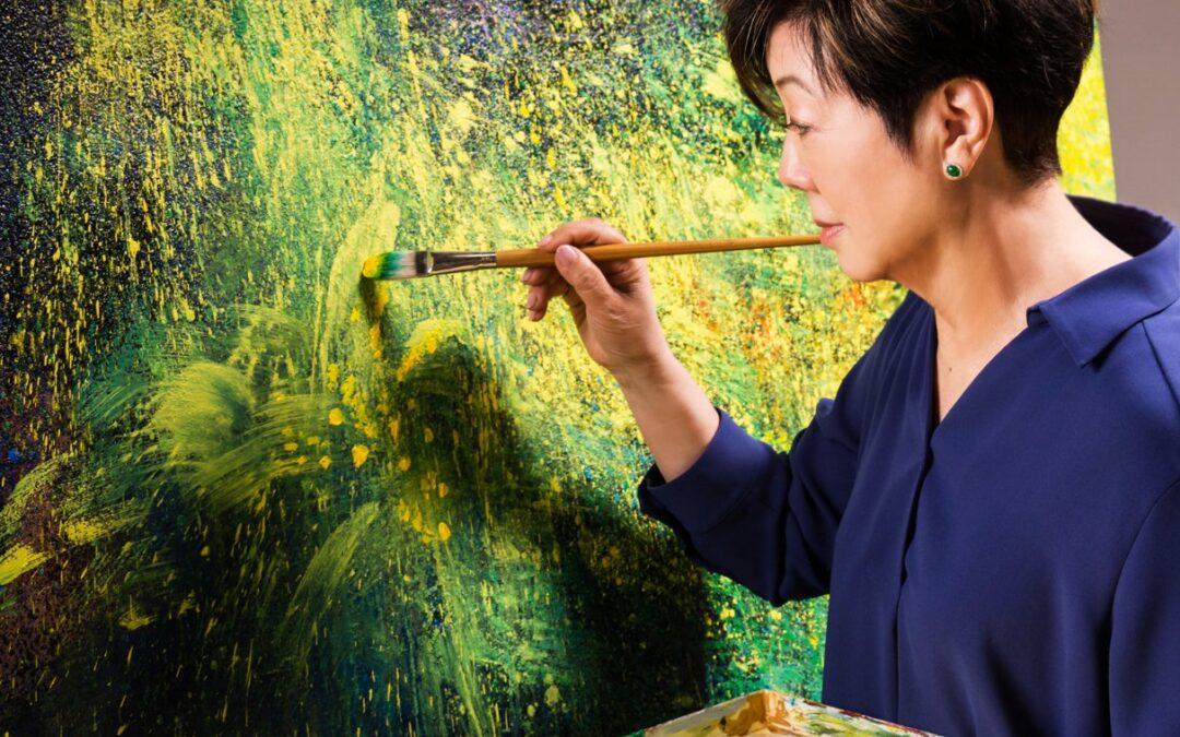 62歲初執畫筆 張淑芬:畫畫讓我有自信